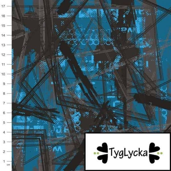 Tyglycka - Chaotic Lines coupon 50cm chaotic lines1 1