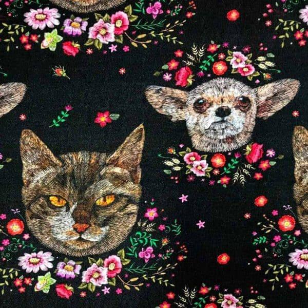 Ernst Textil - katten en honden close up hund en katt