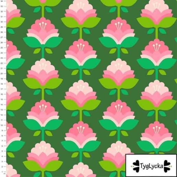 Tyglycka - Pink retro flowers pink retro flowers1 1