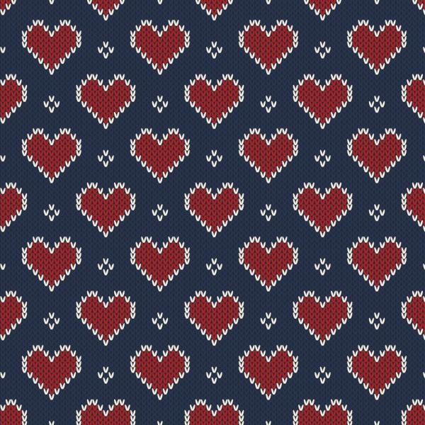 Ernst Textil - gebreide hartjes Coupon 1,4m stikade hjartan1