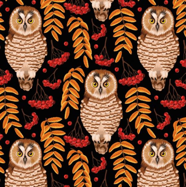 Ernst Textil - uilen zwart uggla brun svart ronnbar1