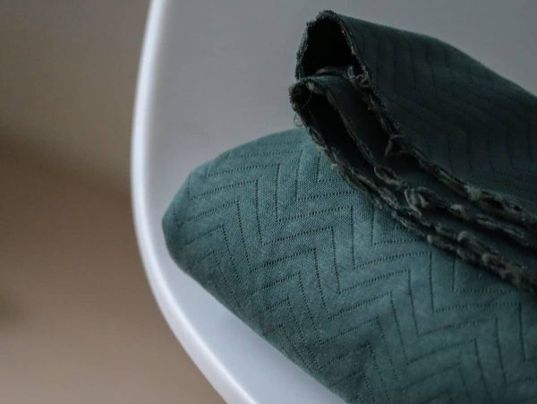 Mind the Maker- Chevron Quilt Green (sweat) MTM dark green hevron quilt Aangepast