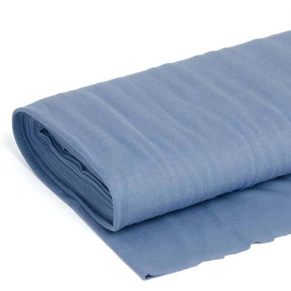 Jeans rib jacquard GOTS Stoffonkel