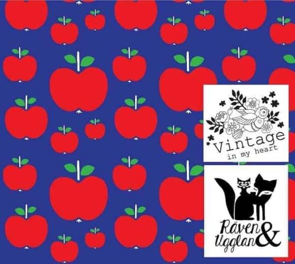 Vintage in my Heart- appeltjes blauw