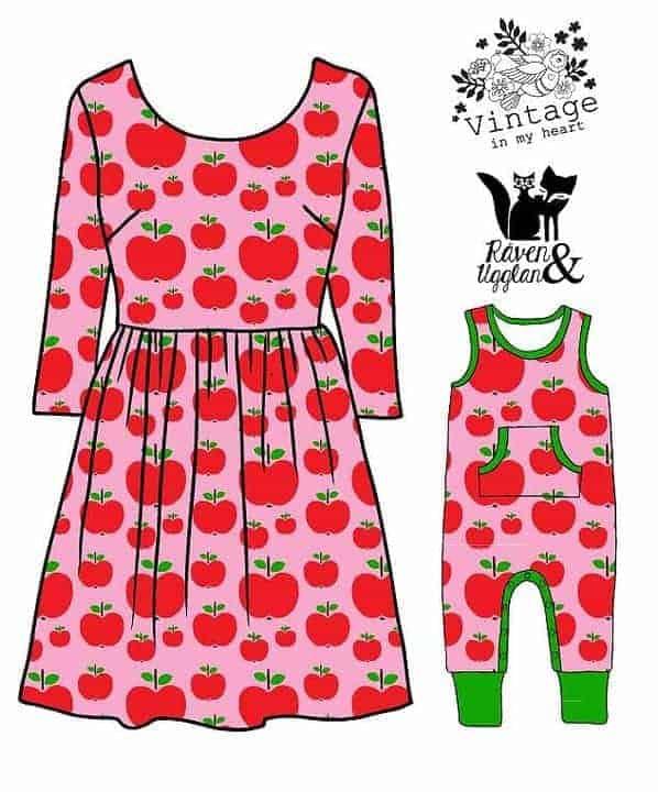 Vintage in my heart appeltjes roze (tricot)