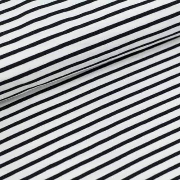 Stoffonkel wit- zwart streepjes