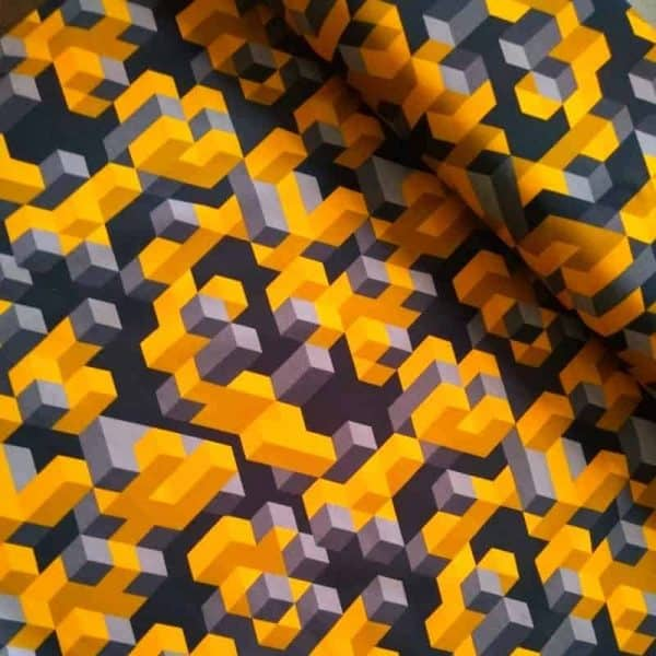 JF fabrics- Cubes (tricot) cubes mustardmood2