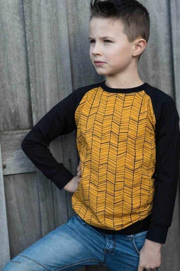 JF fabrics doodle oker tricot