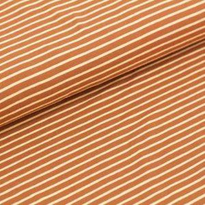stoffonkel- caramel wit streepjes