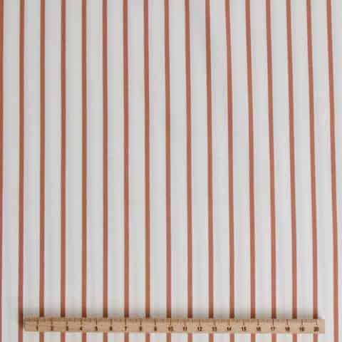 streep bruin wit katoen polyester