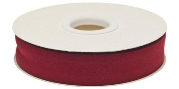 Gevouwen biaisband 20mm - Bordeaux