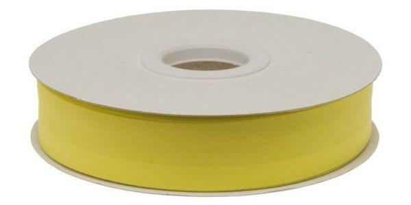 Gevouwen biaisband 20mm - Citroen geel citroengeel