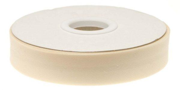 Gevouwen biaisband 20mm - Creme creme