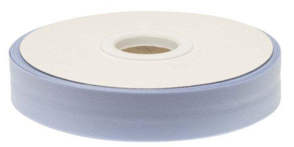 Gevouwen biaisband 20mm - Lichtblauw licht blauw