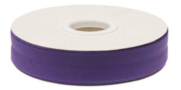 Gevouwen biaisband 20mm - Paars paars