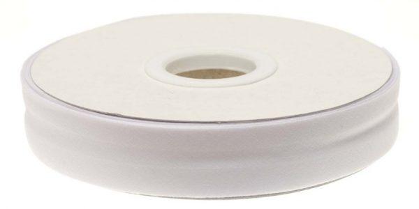 Gevouwen biaisband 20mm - Wit wit