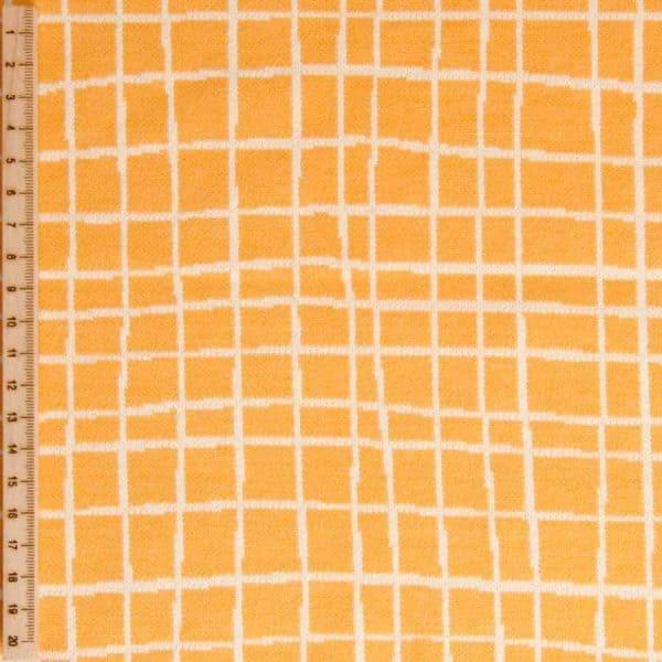 Albstoffe- Grid A72/17 (Life Loves You) Geel/Curry albstoffe grid geel Aangepast