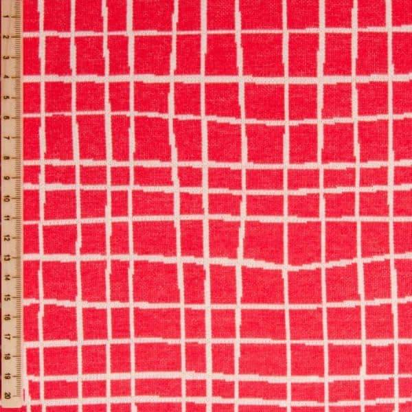 Albstoffe- Grid A63/17 (Life Loves You) Rood albstoffe grid rood Aangepast