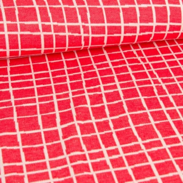 Albstoffe- Grid A63/17 (Life Loves You) Rood albstoffe grid rood1 Aangepast