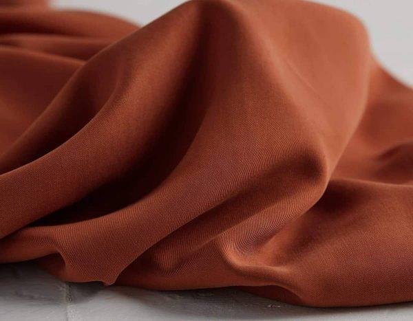 Meet Milk - Twill medium with TENCEL™ fibers - Rust mm tencel twill medium rust C