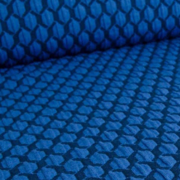 Albstoffe- Honeycomb A04/10 (Life Loves You) Donkerblauw sessie2803 645 Aangepast