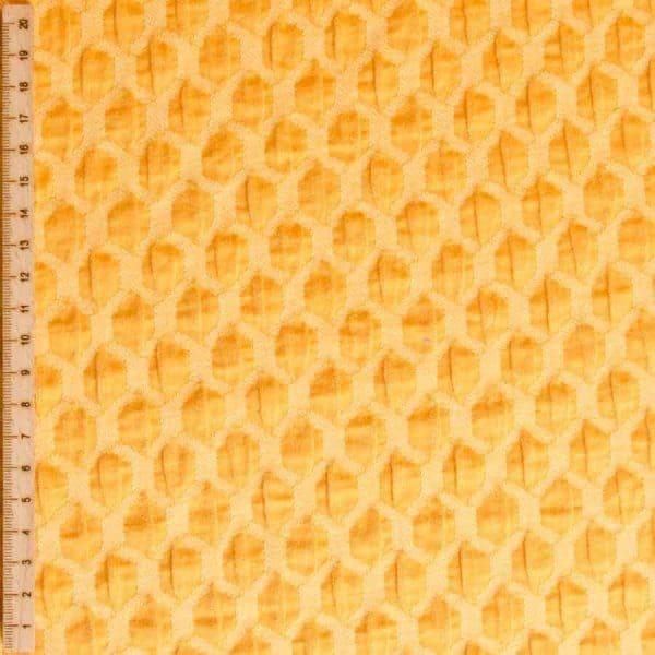 Albstoffe- Honeycomb A72/38 (Life Loves You) Curry/geel sessie2803 648 Aangepast