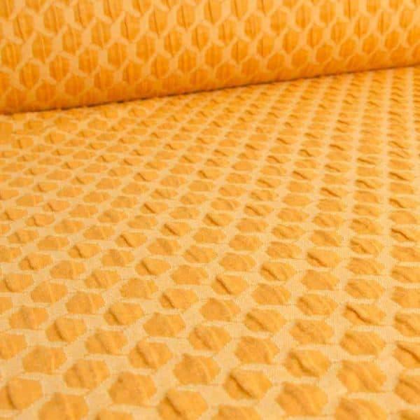 Albstoffe- Honeycomb A72/38 (Life Loves You) Curry/geel sessie2803 649 Aangepast