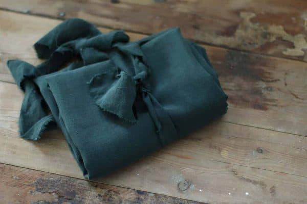 Meet Milk - SLUB LINEN BLEND - Deep Green tencel linen slub 01 deep green