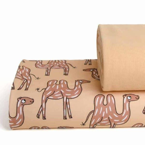 Eva Mouton - Boordstof Camel EM camel combi Aangepast