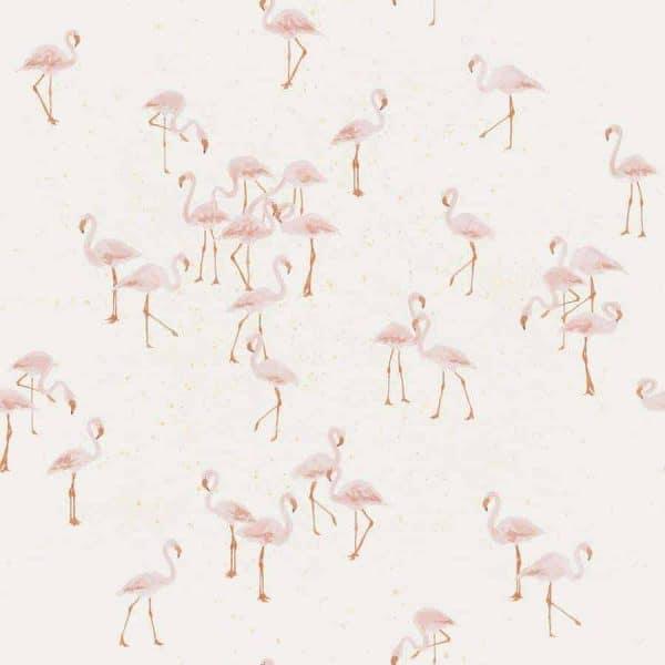 Family Fabrics - Flamingo Flamingo