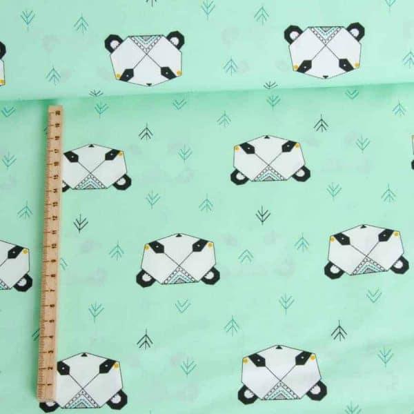 Katia - Katoen Popeline Origami Panda Juffrouw Katoentje01