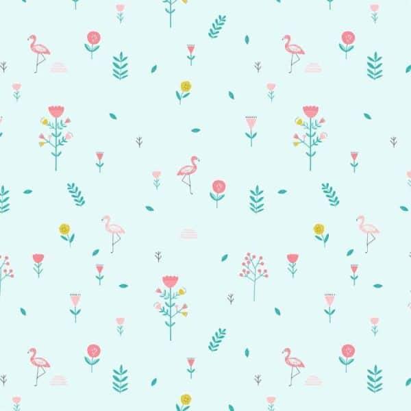 Katia - Katoen Popeline Savanna Mint Flowers p2 popeline savanna mint flowers 2001 2 katia g Aangepast