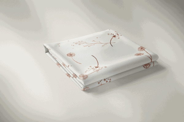 Family Fabrics - White Dandelions Dandelions 900x Aangepast
