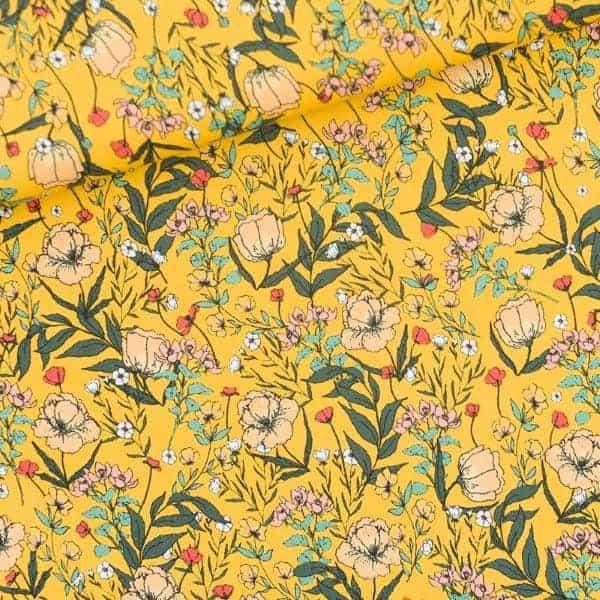 See You At Six - Summer Flowers - S - Lycra - Yolk Yellow - R Summer Flowers S Lycra Yolk Yellow SYAS Summer 2020 01b Aangepast