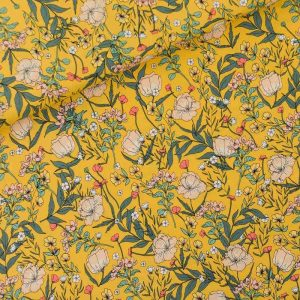 Home Summer Flowers S Viscose Rayon Yolk Yellow 01b Aangepast