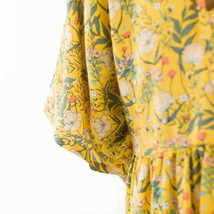 Home Summer Flowers S Viscose Rayon Yolk Yellow 72b Aangepast