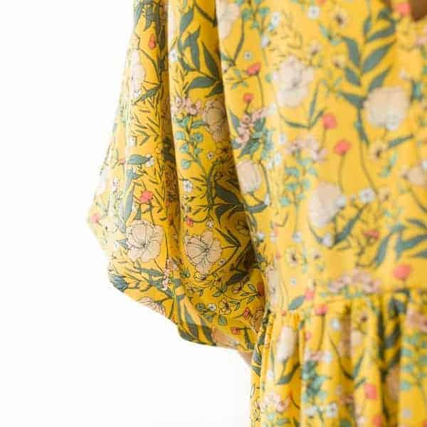 See You At Six - Summer Flowers - S - Viscose - Rayon Summer Flowers S Viscose Rayon Yolk Yellow 72b Aangepast