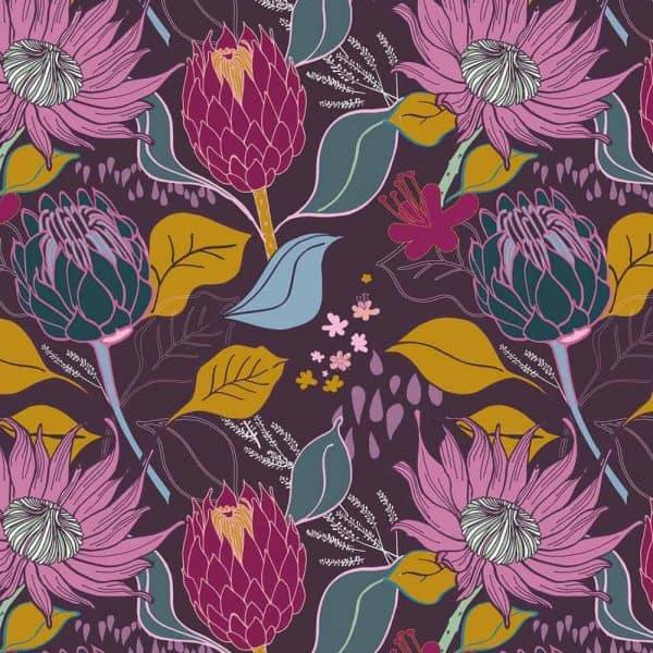 Ernst Textil - Zonnebloemen Paars 200201174148p
