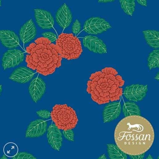 Fossan- Roses Red Jersey Roses Red – Fossan Design Wholesale