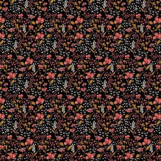 Poppy flowers black