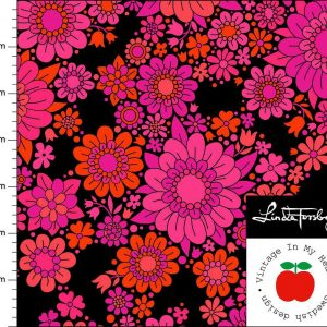 Vintage in my heart cerise blossom tricot