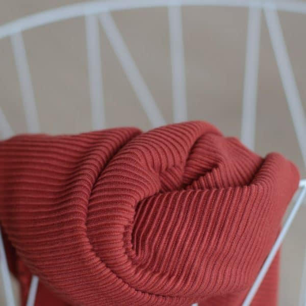 Meet Milk - Self-Stripe Ottoman knit met Ecovero vezels - Cider MM 9205 CIDER2