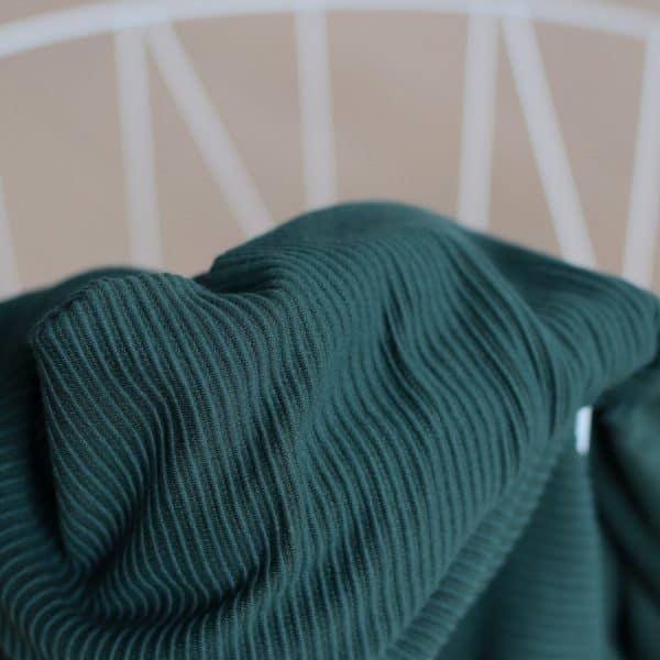 Meet Milk - Self-Stripe Ottoman knit met Ecovero vezels - Deep Green MM 9206 DEEP GREEN2