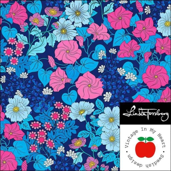 Vintage in my heart Felicity blue tricot