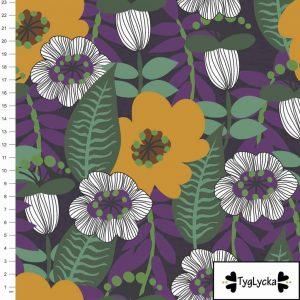 Nieuw Binnen retro flowers purple scaled