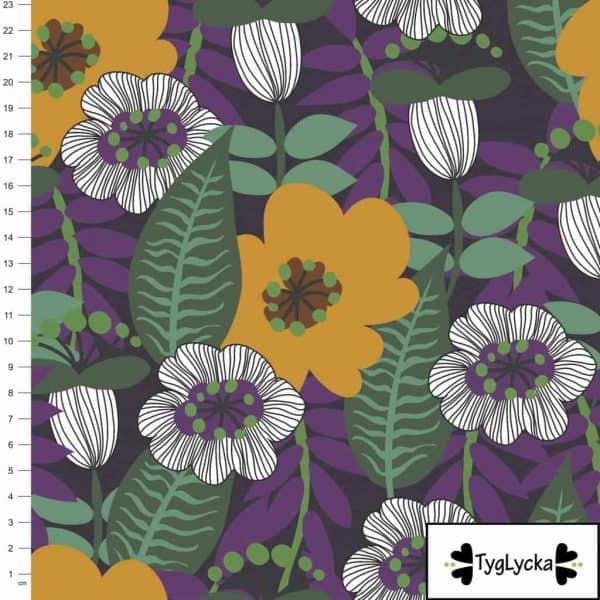 Tyglycka- Retro flowers purple retro flowers purple scaled