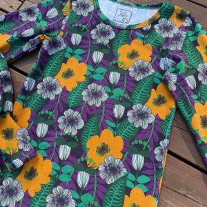 Nieuw Binnen retro flowers purple2