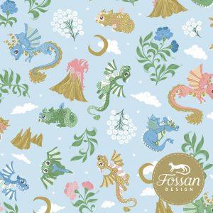Overzicht duurzame stoffen Shop Baby Dragons Sky Blue